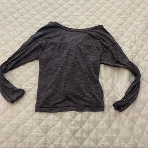 Lululemon Purple Long Sleeve Top w/ open back